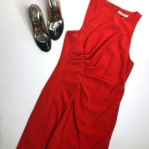 HALSTON HERITAGE Red Sheath Dress